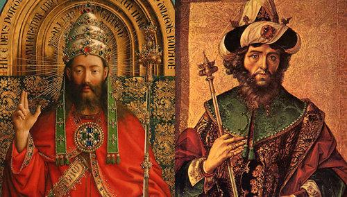 Jesús está sentado sobre el trono del rey David