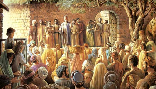 """San Pedro se levantó durante el Concilio en Jerusalén de Hechos 15 y dice que Dios """"me eligió""""."""