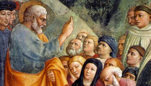 La predicación de San Pedro Apóstol, el primer Papa
