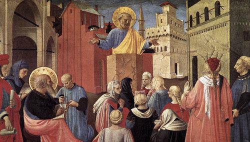 San Pedro Apóstol predicando en Pentecostés
