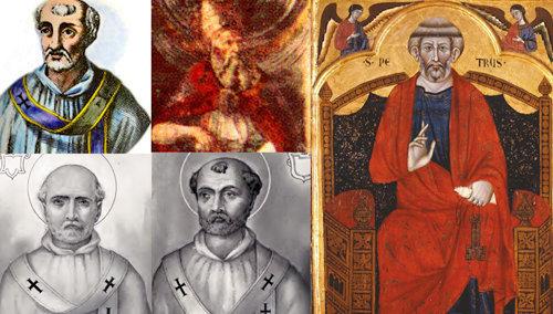 San Pedro, el primer Papa, y sus sucesores