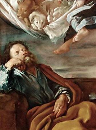 La visión de San Pedro sobre los animales impuros hechos limpios