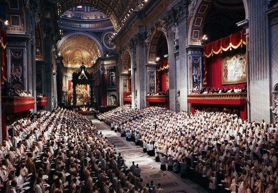 Una sesión del Concilio Vaticano II