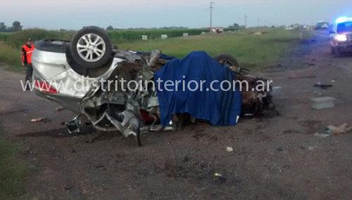El auto que condujo Fabían Vázquez chocó de manera frontal con un camión