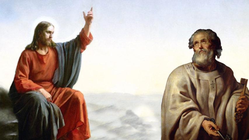 Jesús fundó su iglesia sobre Pedro (Mateo 16)