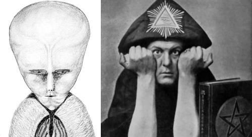 'Alienígena' Lam por Aleister Crowley satanista