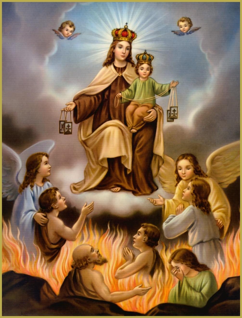 Ánimas del Purgatorio sacadas por la Virgen del Monte Carmelo