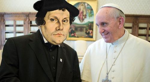 """¡Francisco dice que Lutero """"no se ha equivocado"""" sobre la justificación y que él está de acuerdo con los protestantes sobre la justificación!"""