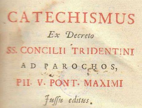 Catecismo del Concilio de Trento