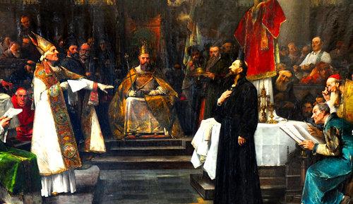 Juan Wiclef condenado por el Concilio de Constanza