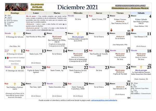 Mes de Diciembre 2021