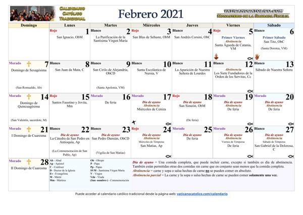 Mes de Febrero 2021
