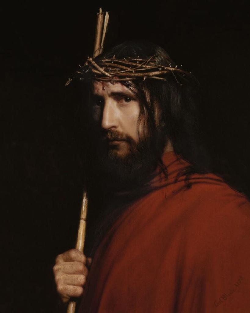 Humilde Jesús con la corona de Espinas