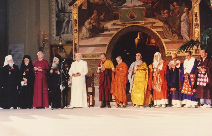 """Anti Papa Juan Pablo II Asís, Italia 27 de octubre de 1986, """"Jornada Mundial de Oración por la Paz"""""""