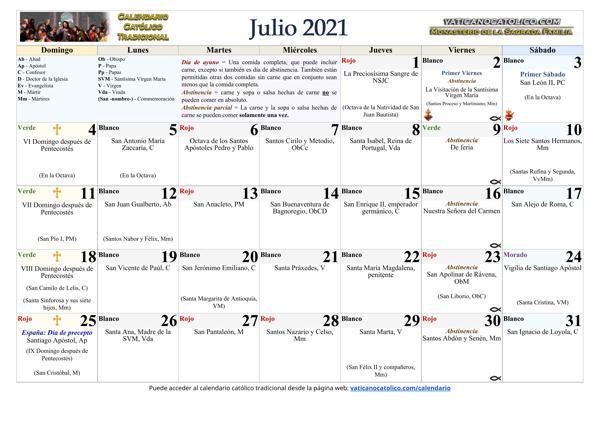 Mes de Julio 2021