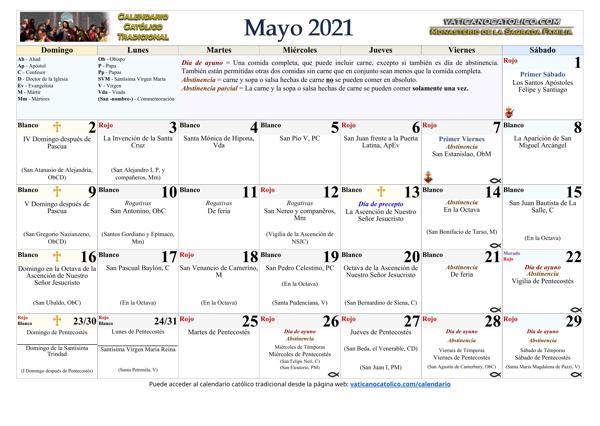 Mes de Mayo 2021