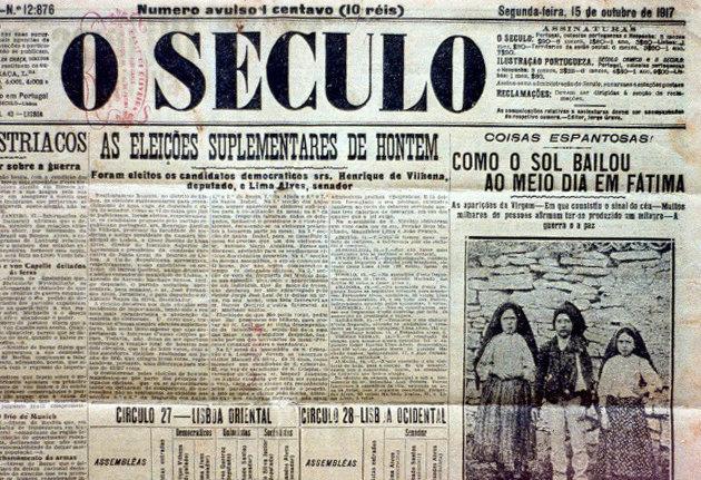 Fátima: Milagro del Sol - Periodico masónico de Portugal