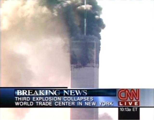 CNN 10.03 Último minuto - Tercera explosión hace colapsar el World Trade Center