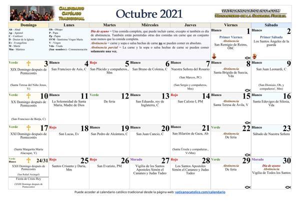 Mes de Octubre 2021