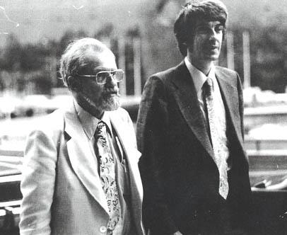 Expertos en los OVNI Allen Hynek (izquierda) y Jacques Vallée (derecha)