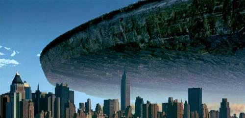 OVNI - Nave Espacial sobre Nueva York en película 'Día de la Independencia'