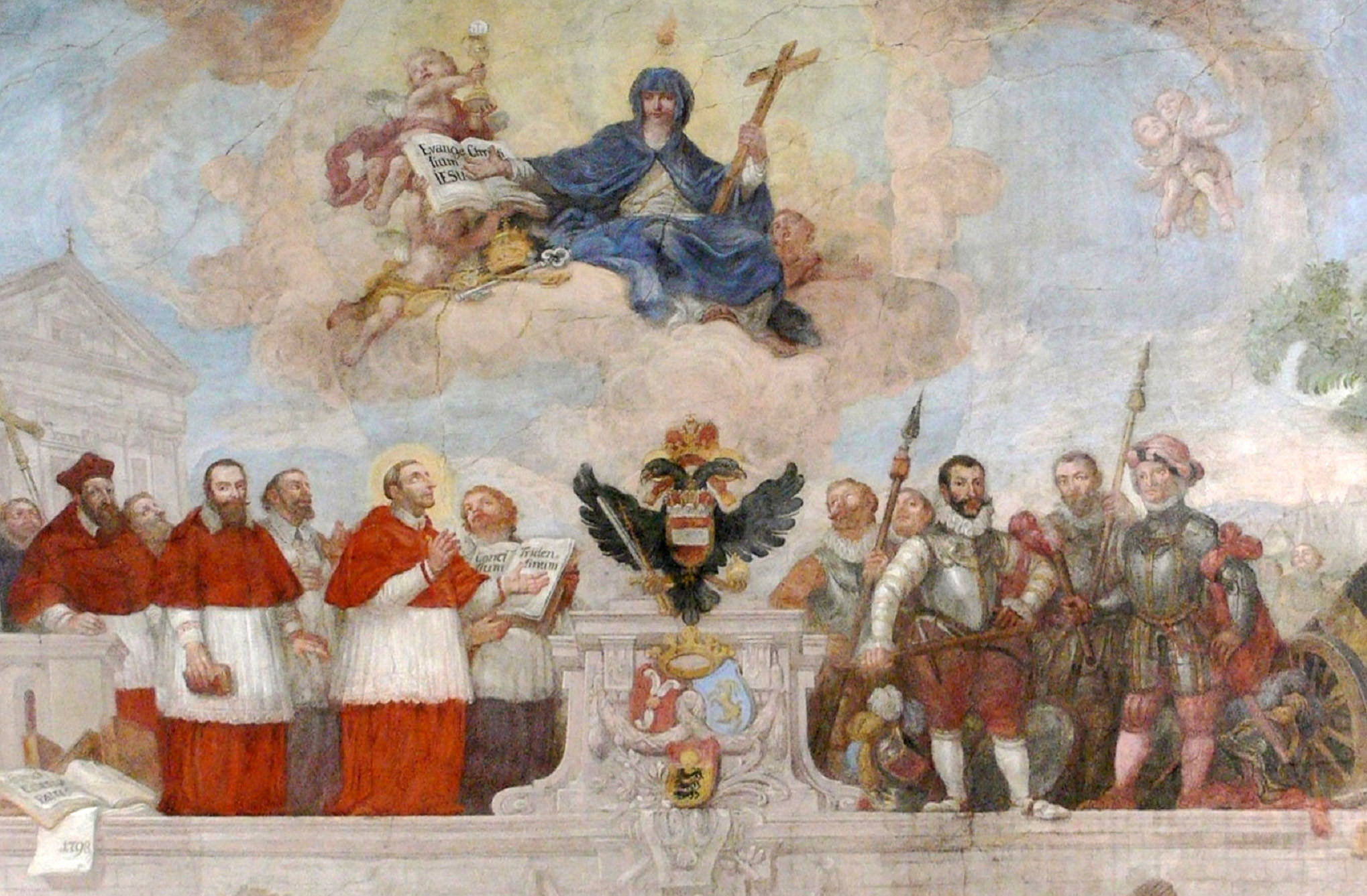 San Carlos Borromeo en el Concilio de Trento