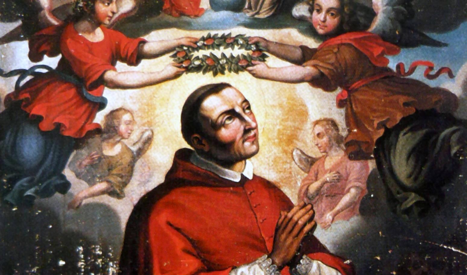 San Carlos Borromeo recibe la corona gloriosa