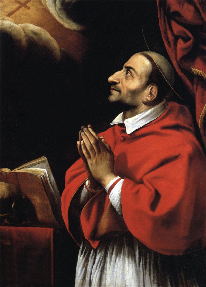 San Carlos Borromeo en oración