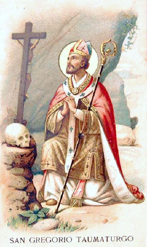 San Gregorio Taumaturgo, obispo cristiano, Padre de la Iglesia primitiva