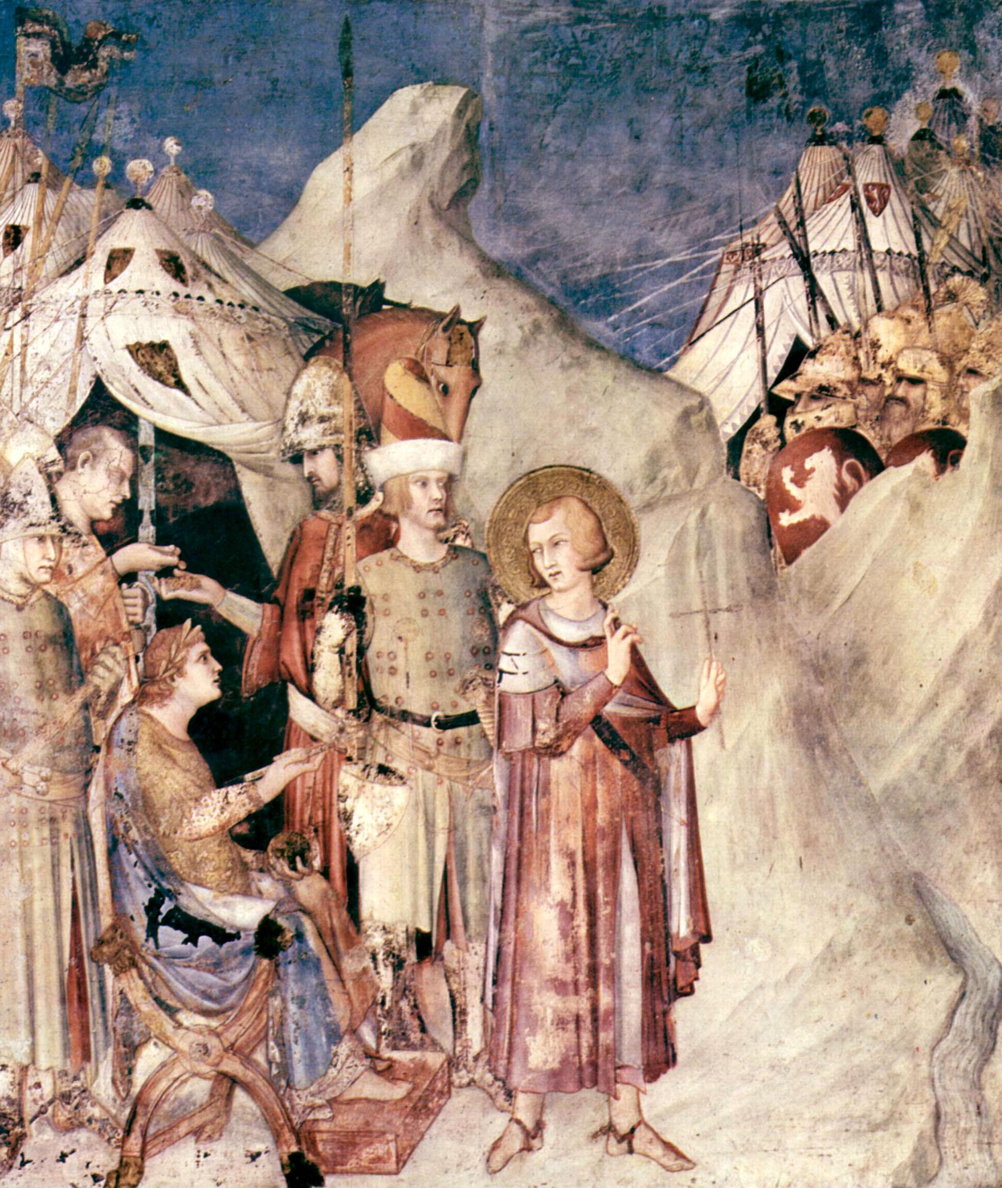 San Martín de Tours deja el ejercito romano