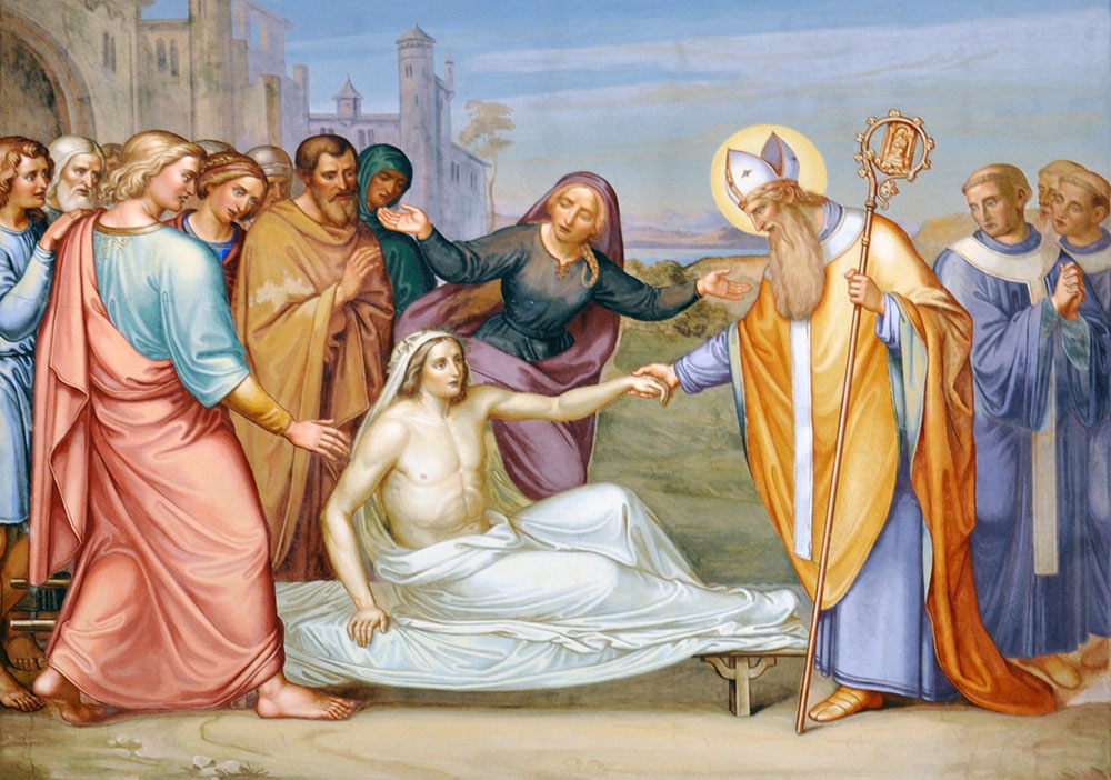 San Martín de Tours resucita a un muerto