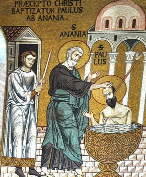 San Pablo bautizado por Ananías