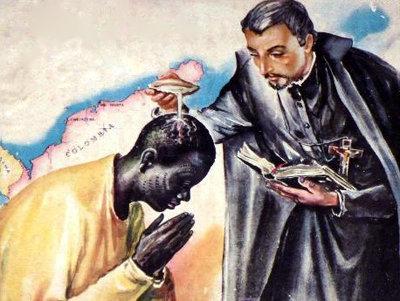 San Pedro Claver, un misionero jesuita en Colombia obra bautismos milagrosos