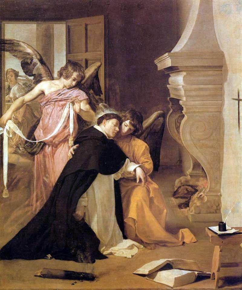 Santo Tomás de Aquino, Tentación contra la castidad y pureza