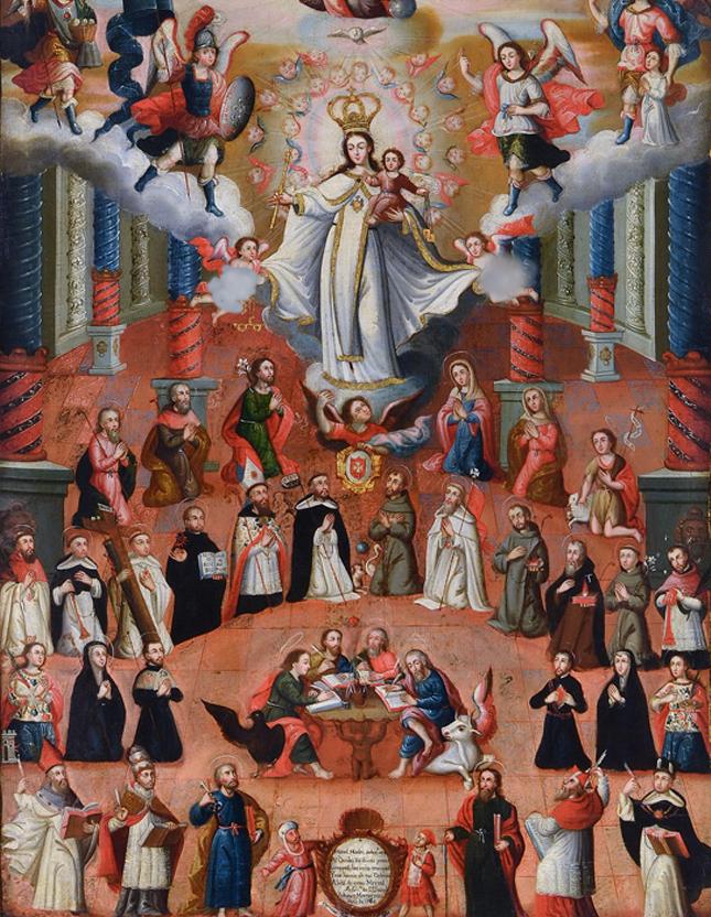 La coronación de la Santísima Virgen María