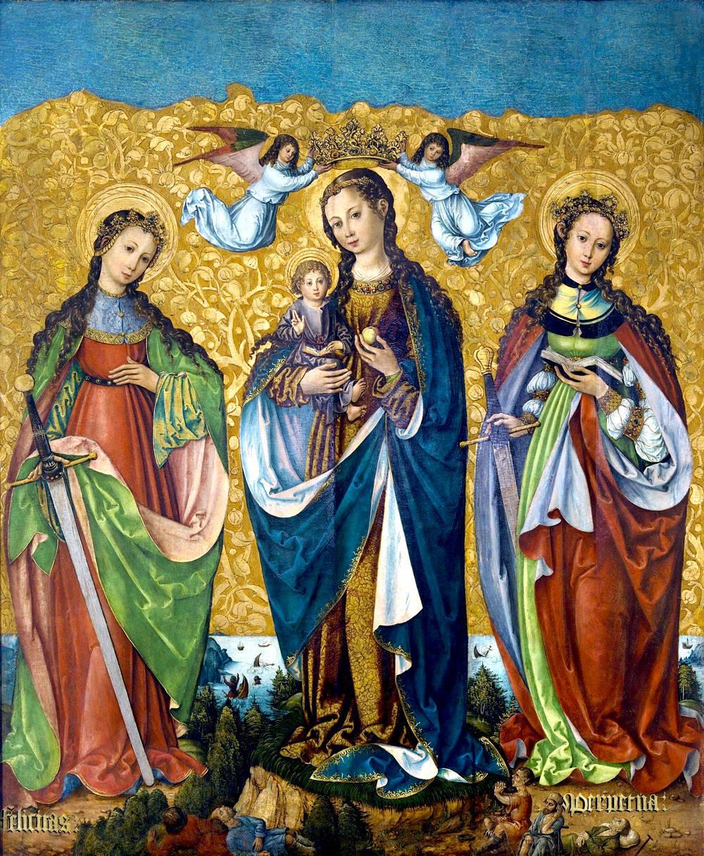 La Virgen María con el Niño Jesús junto con las Santas Felícitas y Perpetua