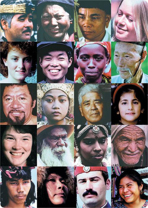 """Caras de diferentes """"razas"""" humanas"""