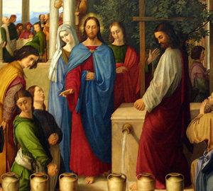 Jesús realizó su primer milagro por intercesión de su madre, María.