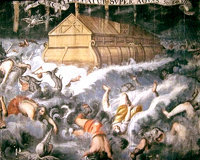 El Arca de Noé y el Gran Diluvio prefiguraban la salvación por el bautismo y la Iglesia.