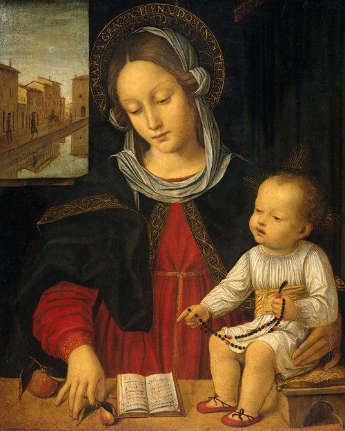 La Virgen María y el Niño Jesús