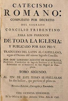 Una edición de 1797 del Catecismo Romano del Concilio de Trento