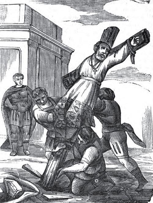 San Simeón, obispo de Jerusalén, es crucificado como su martirio en 107 A.D. (18 de febrero)