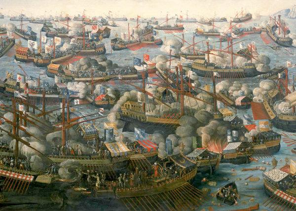 La batalla de Lepanto, 1571 d.C.