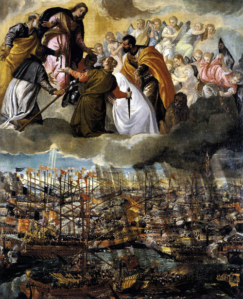 La intercesión de la Virgen María en la batalla de Lepanto