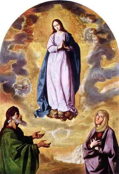 La Inmaculada Concepción con San Joaquín y Santa Ana