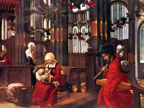 Santa Ana con la santa Niña María en sus brazos