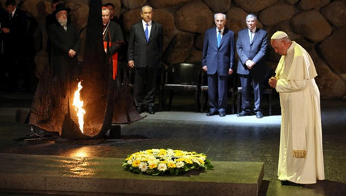 "Anti-Papa Francisco Yad Vashem ""Holocausto"""