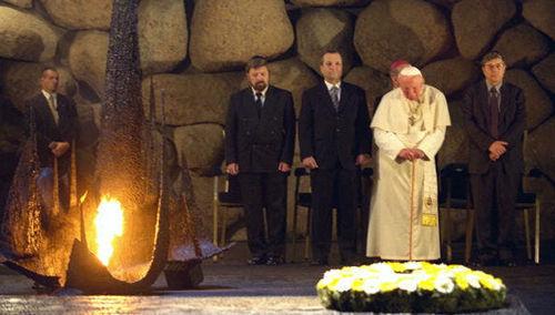 "Anti-Papa Juan Pablo II Yad Vashem ""Holocausto"""