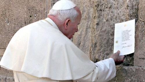 Anti-Papa Juan Pablo II Muro de los Lamentos