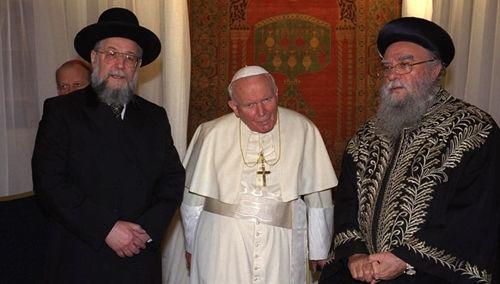 Anti-Papa Juan Pablo II y rabinos judíos de Israel